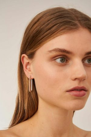 Womens Oroton Earrings | Lacey Large Hoops Silver