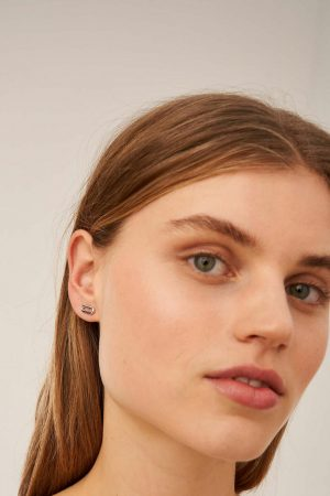 Womens Oroton Earrings | Lacey Studs Silver