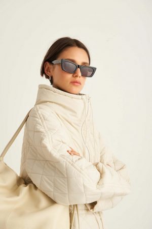 Womens Oroton Jackets And Outerwear | Quilted Parka Bone
