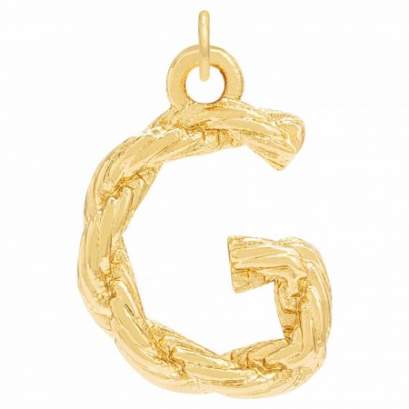 Womens Oroton Letter Charms   Petite Luna G Necklace Gold