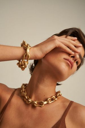 Womens Oroton Necklaces | Eloise Necklace Worn Gold