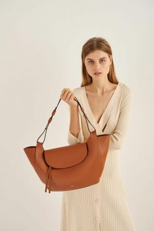 Womens Oroton Tote Bags | Clement Tote Brandy