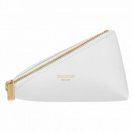 Womens Oroton Travel Bags | Ivy Small Zip Case Pure White