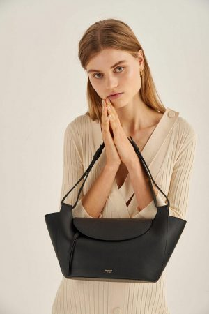 Womens Oroton Work Bags | Clement Small Tote Black