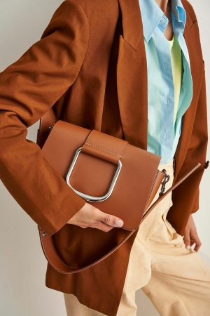 Womens Oroton Work Bags | Cole Day Bag Cognac